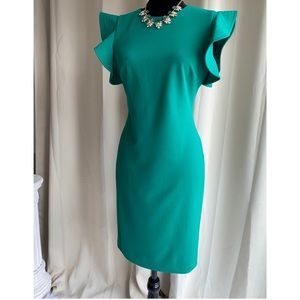 ***SOLD****Green Calvin Klein Dress